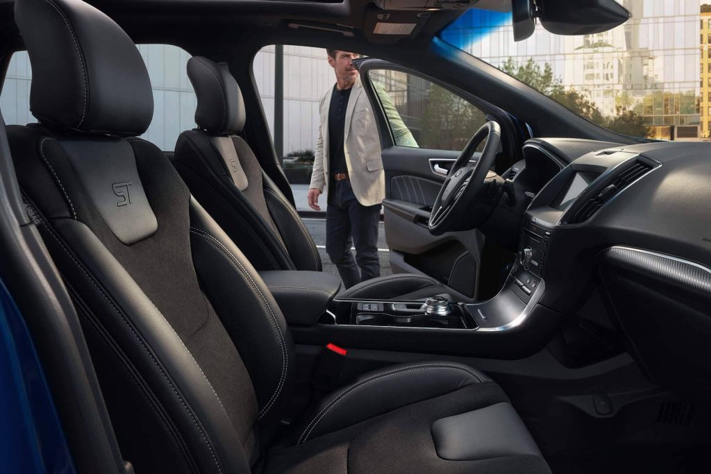 Interior of Ford SUV