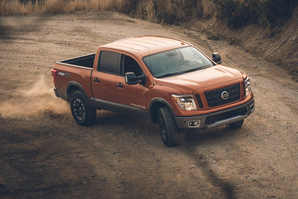 2019 Nissan Titan XD off-roading in mud