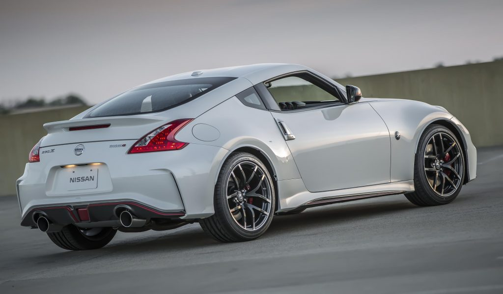 An image of a 2017 Nissan 370Z Nismo outdoors.