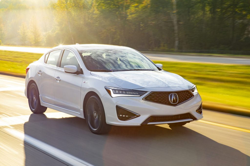 2019 Acura ILX A-Spec driving down country road