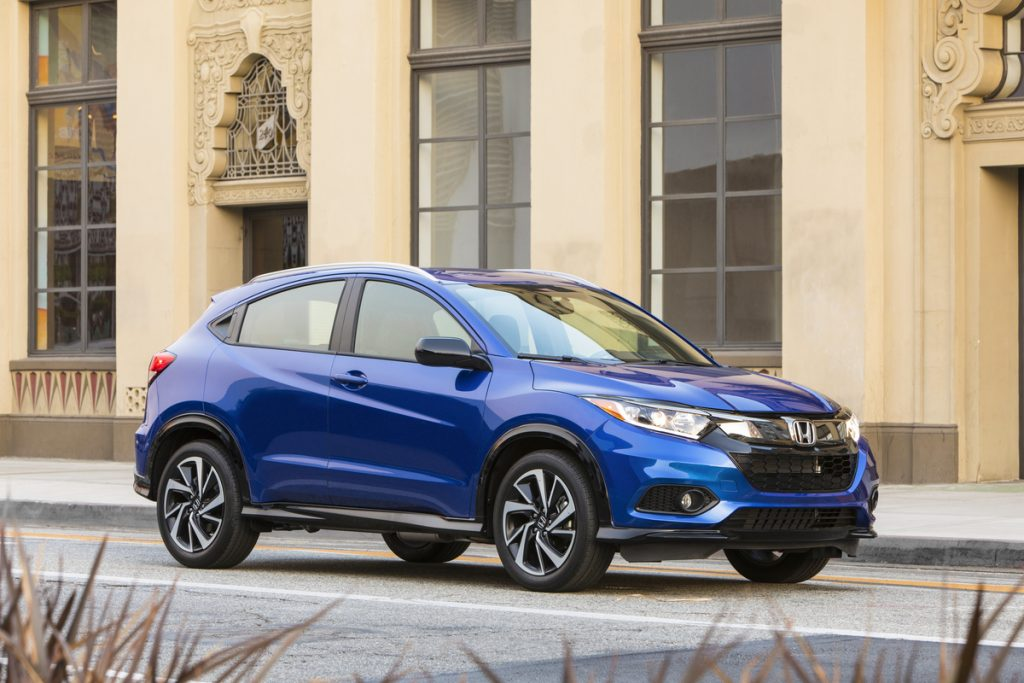 2019 Honda HR-V Sport parked in front of building