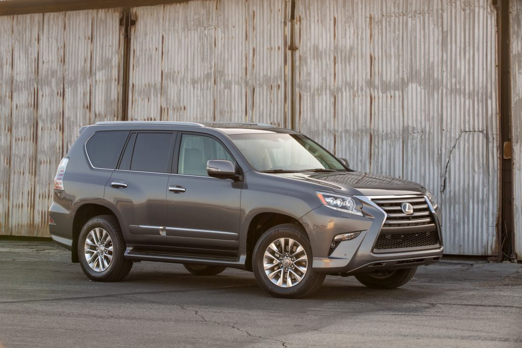 a gray Lexus GX in an industrial setting