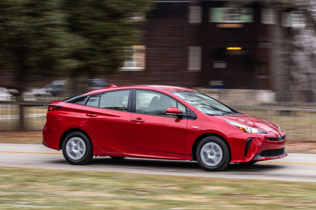 2019 Toyota Prius driving on street