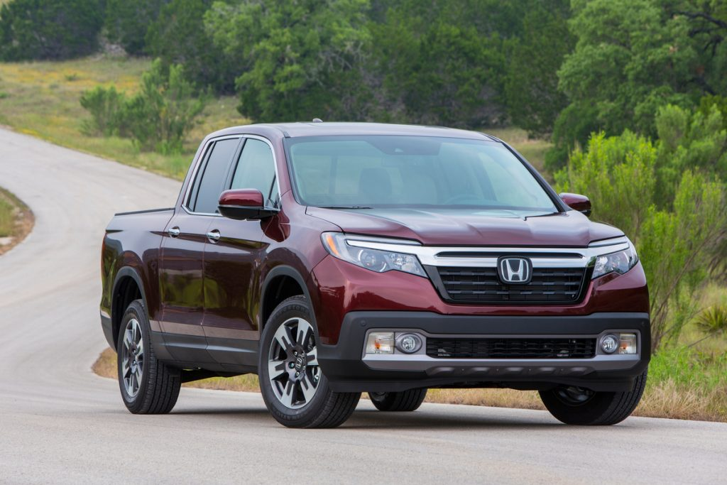 2019 Honda Ridgeline driving down road