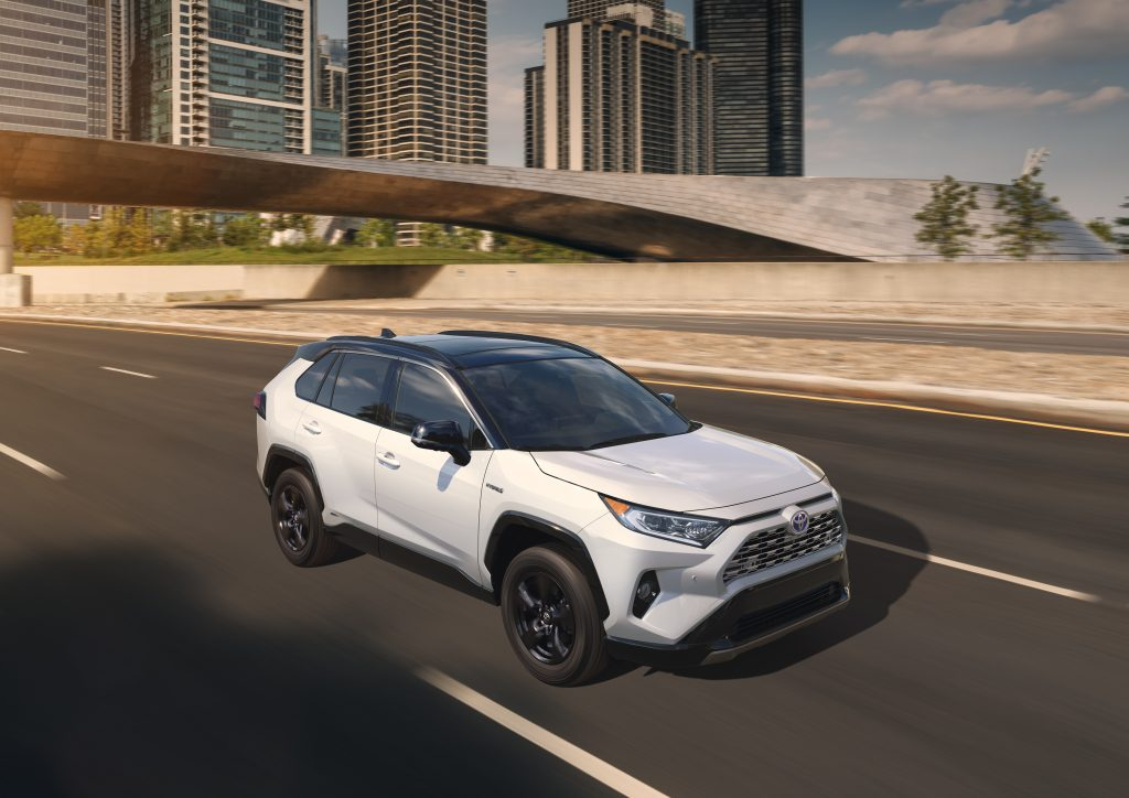 2020 Toyota RAV4 driving on the highway