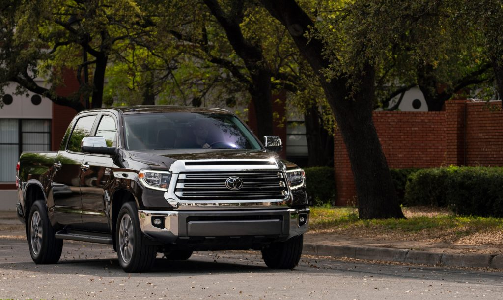 2019 Toyota Tundra parked near the woods