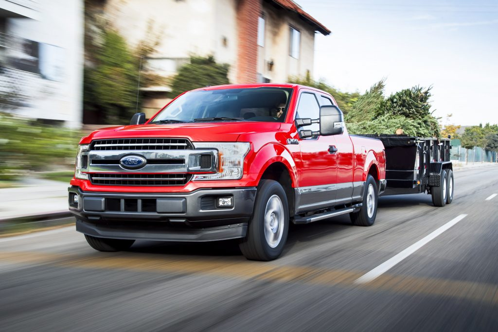 2018 F-150 Power Stroke Diesel driving on the road