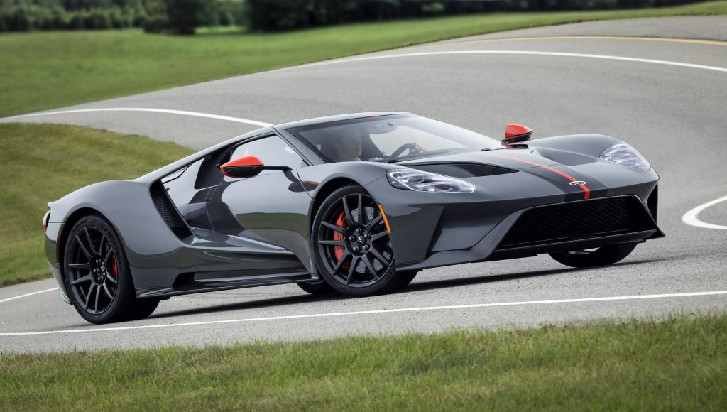 Ford GT with it's innovative lightweight drivetrain on the track
