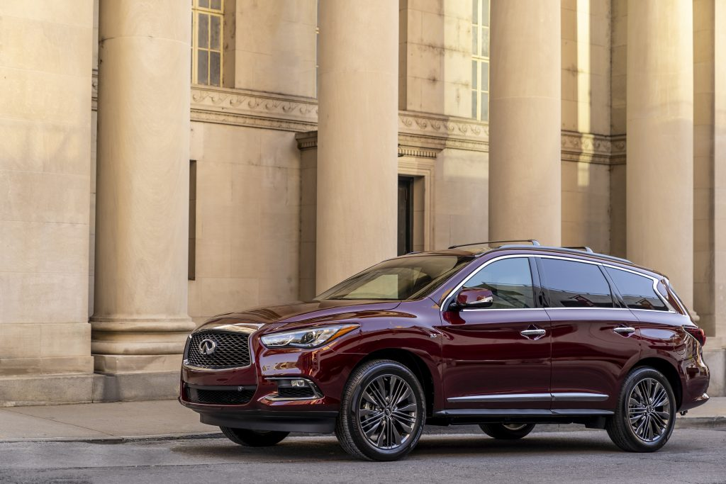 A QX60 with special dark chrome exterior features.