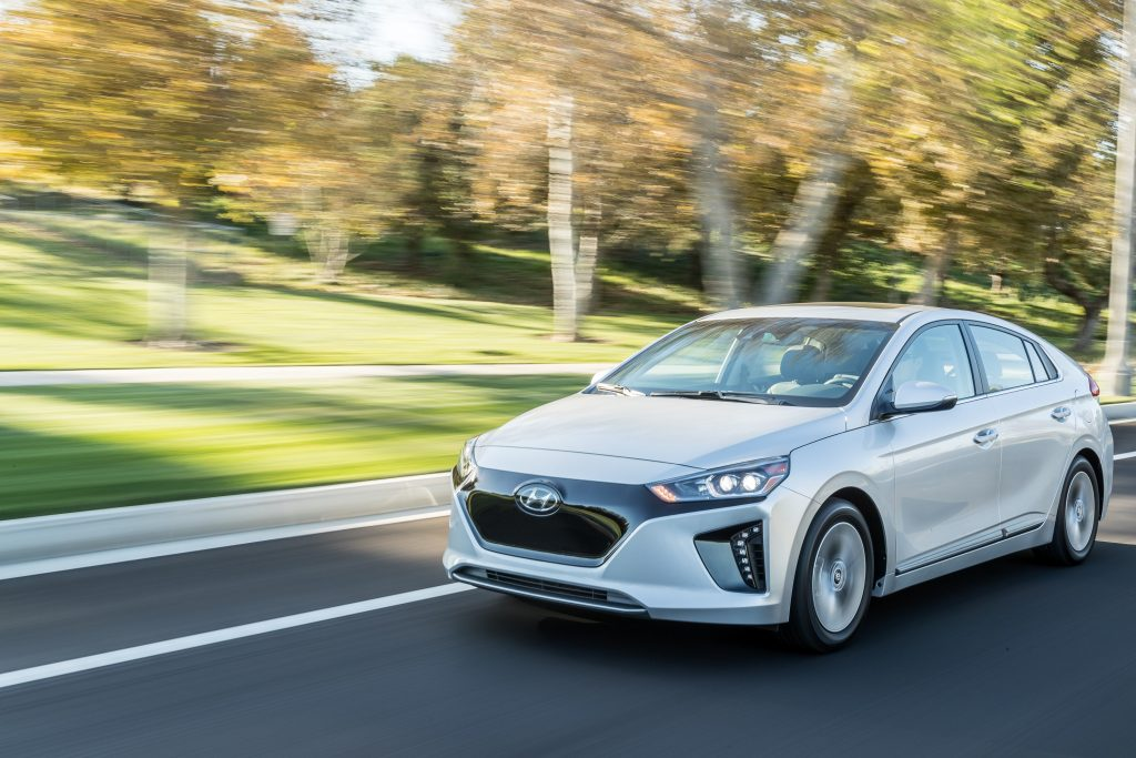 The Hyundai Ioniq offers performance agility and interior comfort.