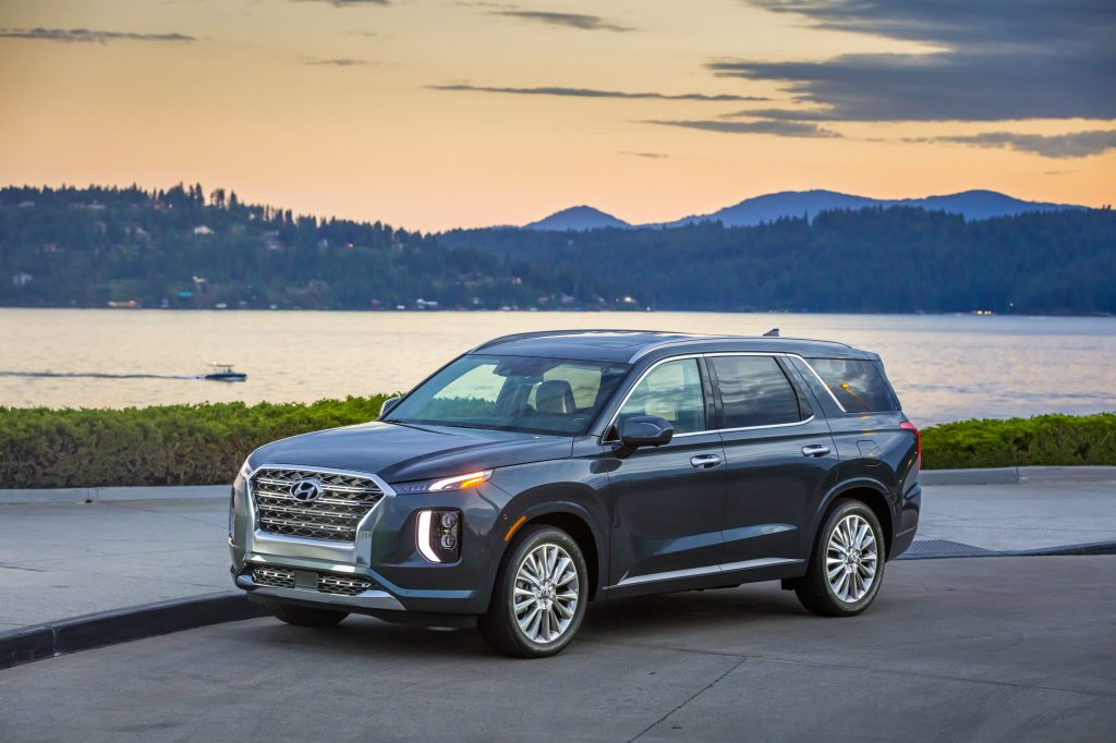 2020 Hyundai Palisade on the road.