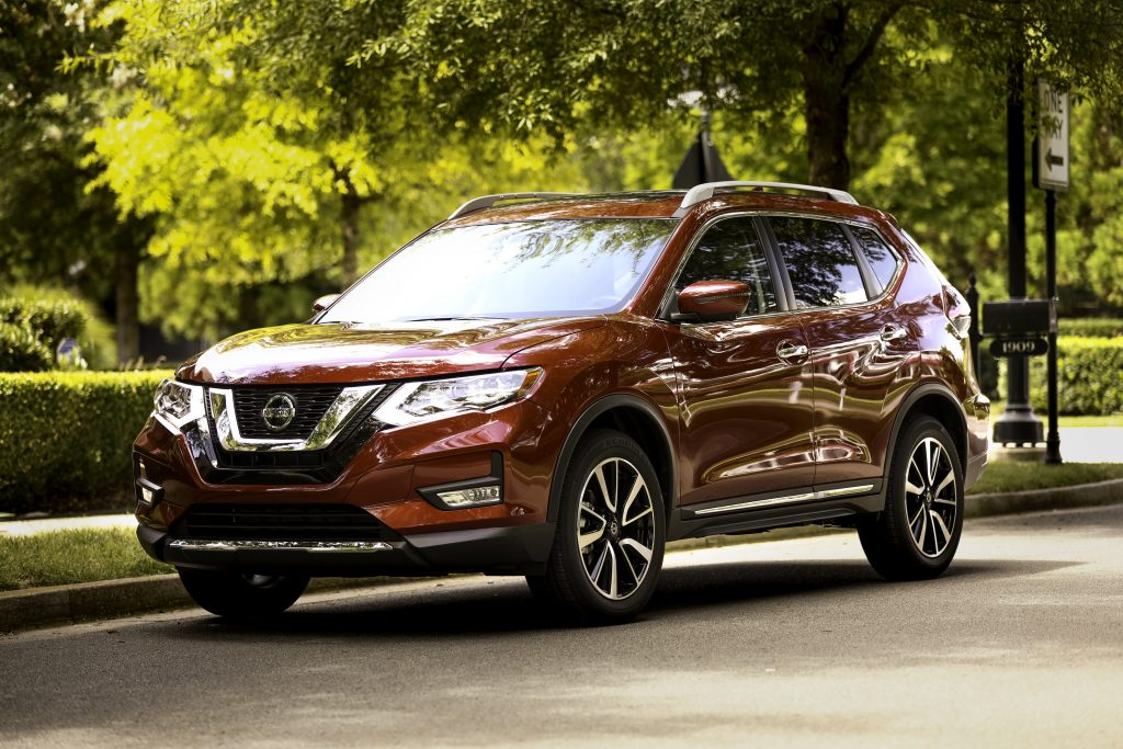 2019 Nissan Rogue parked on city street