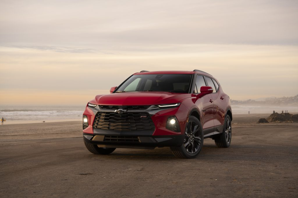 2019 Chevrolet Blazer RS parked on dirt track