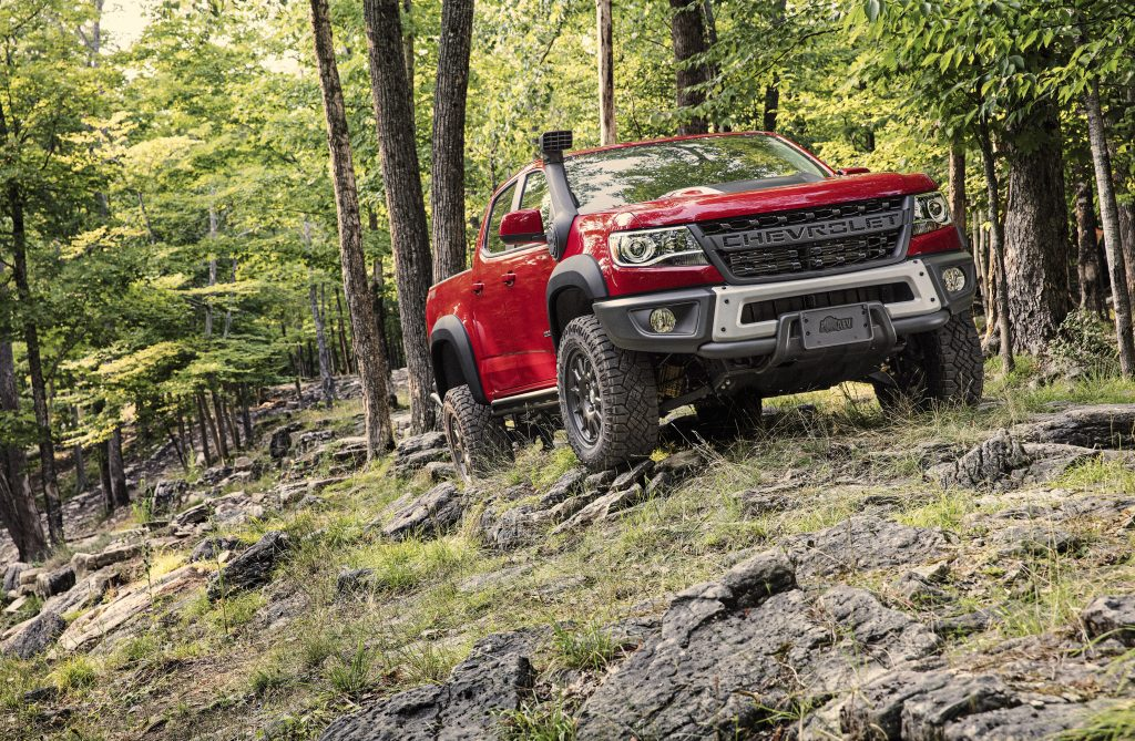 2020 Chevy Colorado | Chevrolet off-roading in the woods