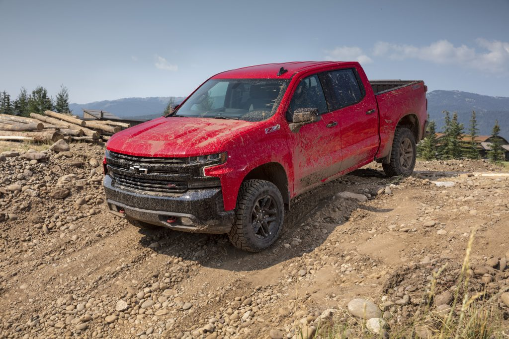 2019 Chevrolet Silverado LT Trail Boss going down hill