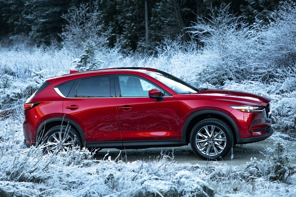 2019 Mazda CX-5 driving in snow