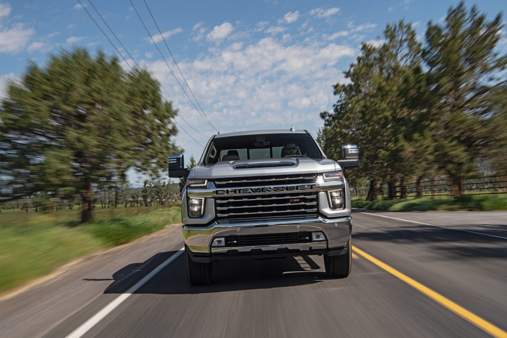 2020 Chevrolet Silverado 2500 HD Z71 driving on country road