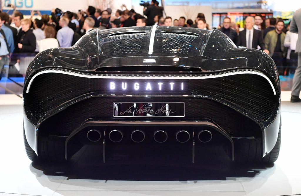 Rear view of the Bugatti La Voiture Noire
