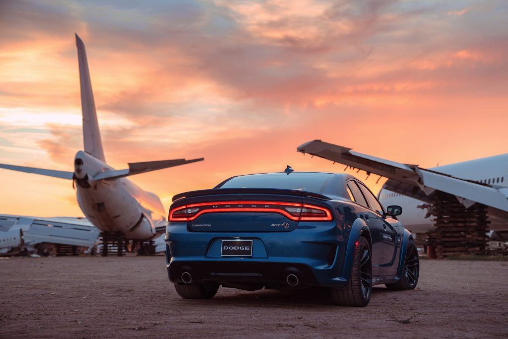 rear view of the 2020 Dodge Charger