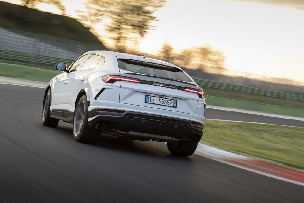 Lamborghini Urus on track
