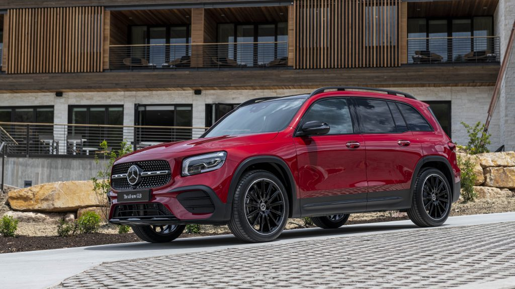 a red merceds-benz gab 250 is a good SUV if you want fuel economy