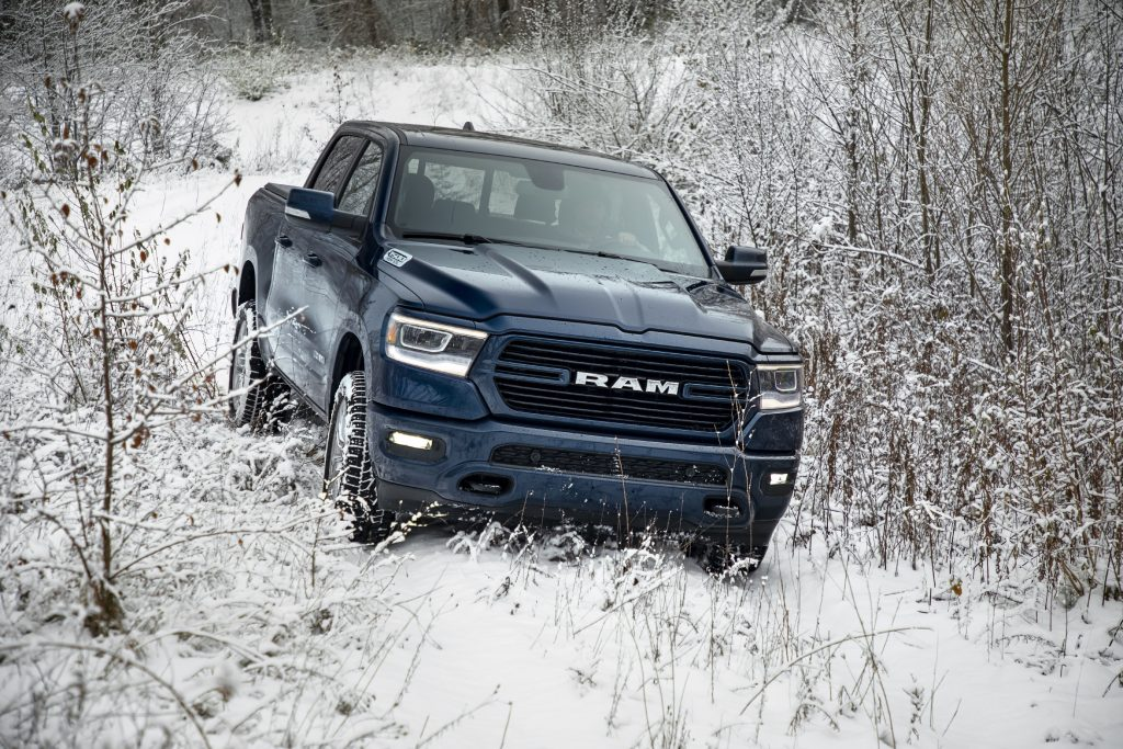 2019 Ram 1500 driving in snow