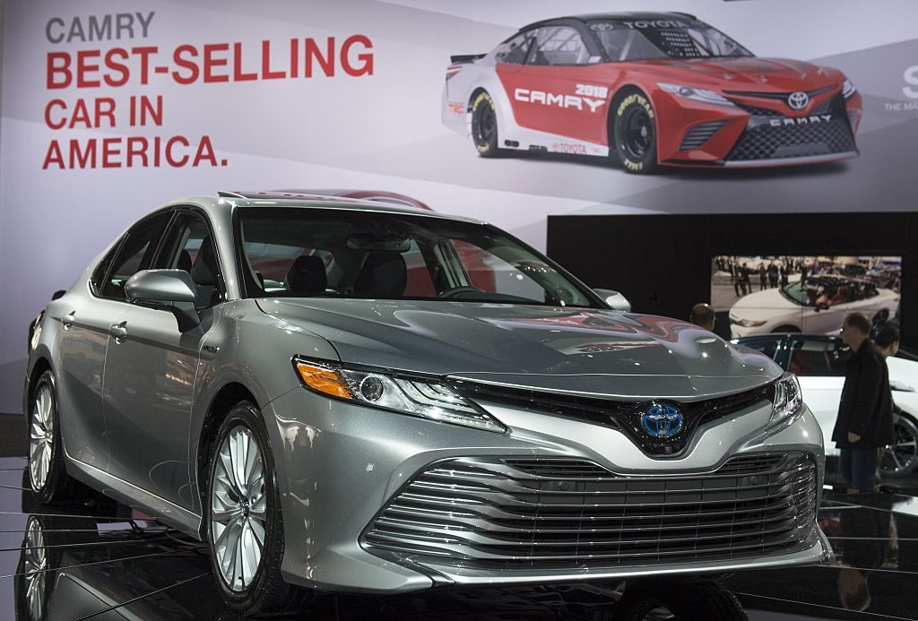 2018 toyota Camry on display at a car show