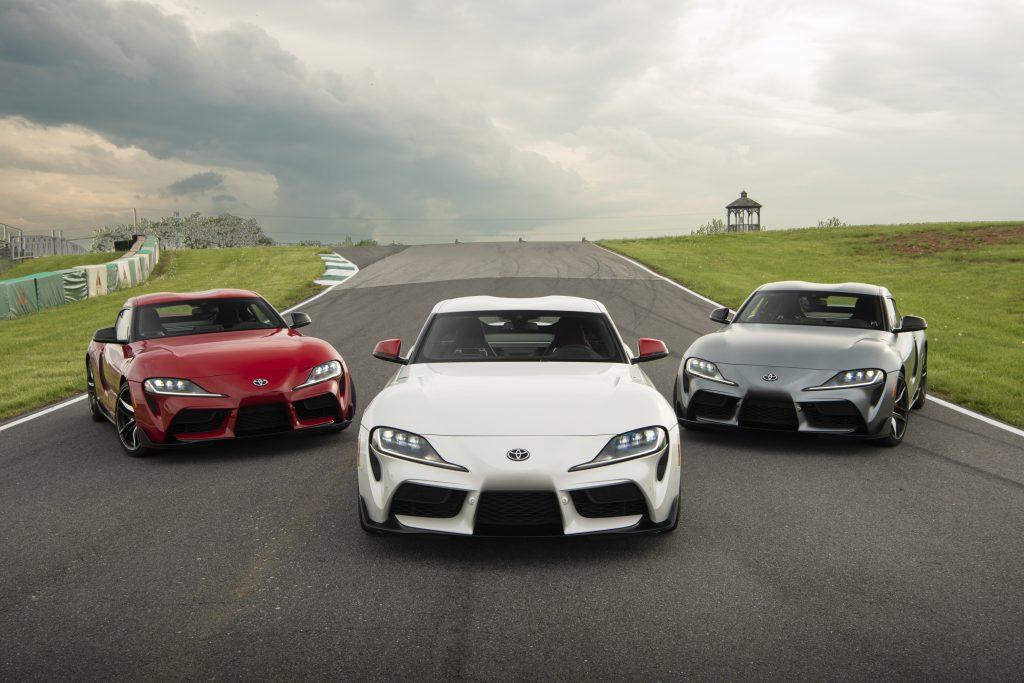 Three 2020 Toyota Supras