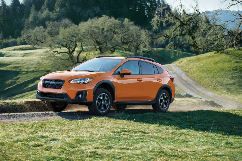 2019 Subaru Crosstrekdriving on curvy country roads