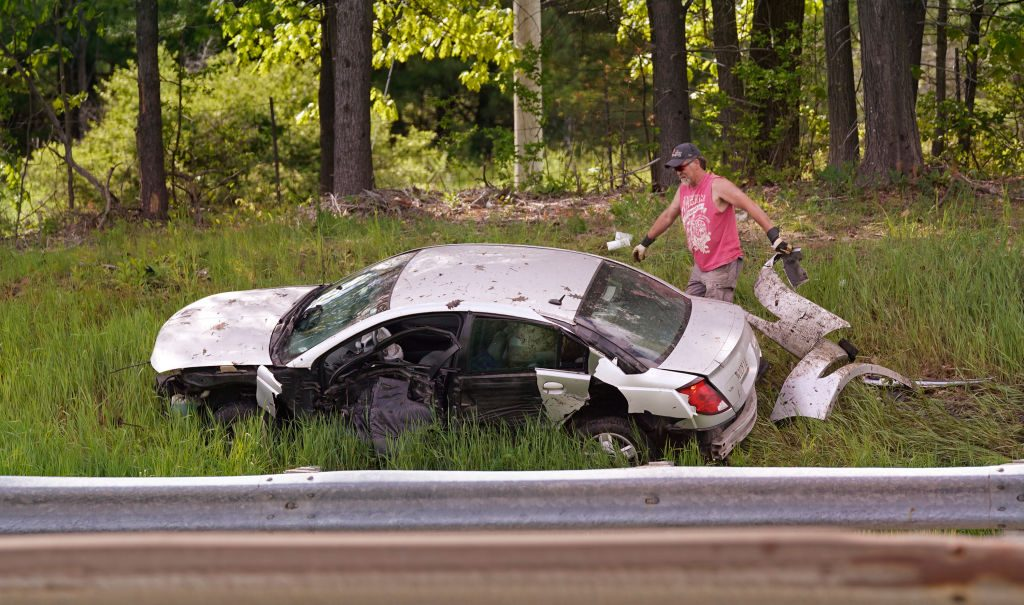 Accident on Maine Turnpike in Scarborough