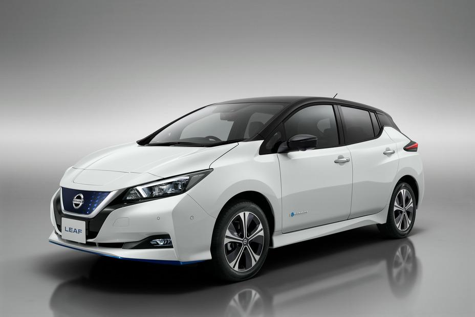 2019 Nissan Leaf on display