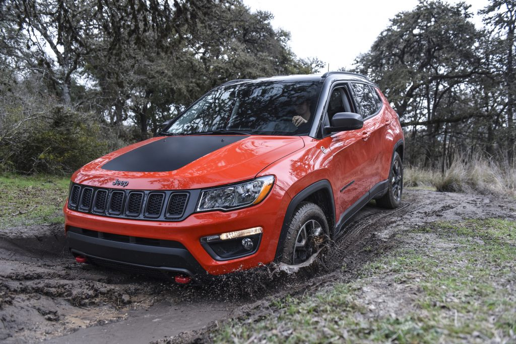 2019 Jeep Compass off-roading in mud