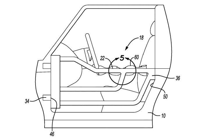 A schematic of Ford's tube door inflation device patent