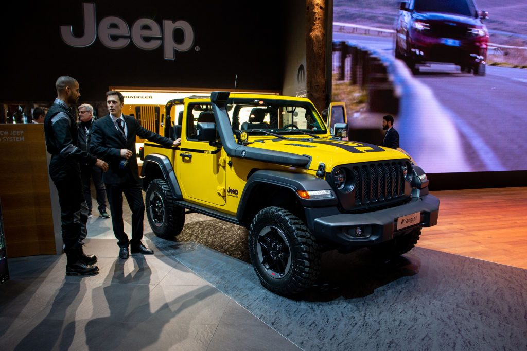 2019 Jeep Wrangler is displayed at the Geneva International Motor Show