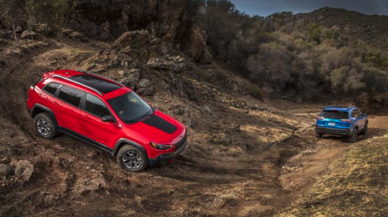 2020 Jeep Cherokee off-roading in mud
