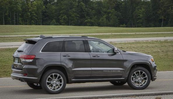 2020 Jeep Grand Cherokee driving down road