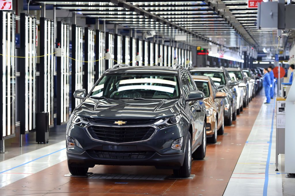 Chevrolet Equinox on the assembly line