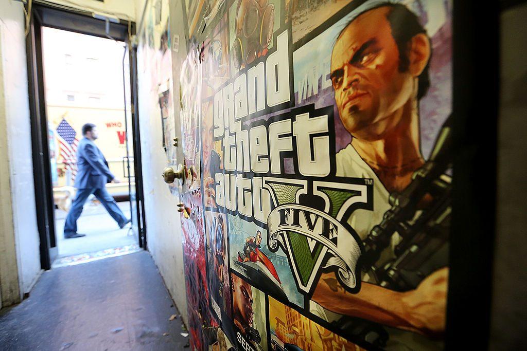 A Grand Theft Auto V poster