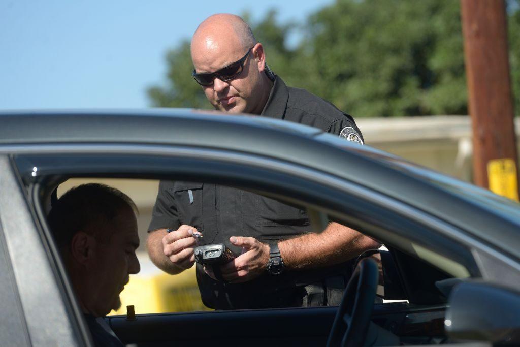 Officer issuing citation