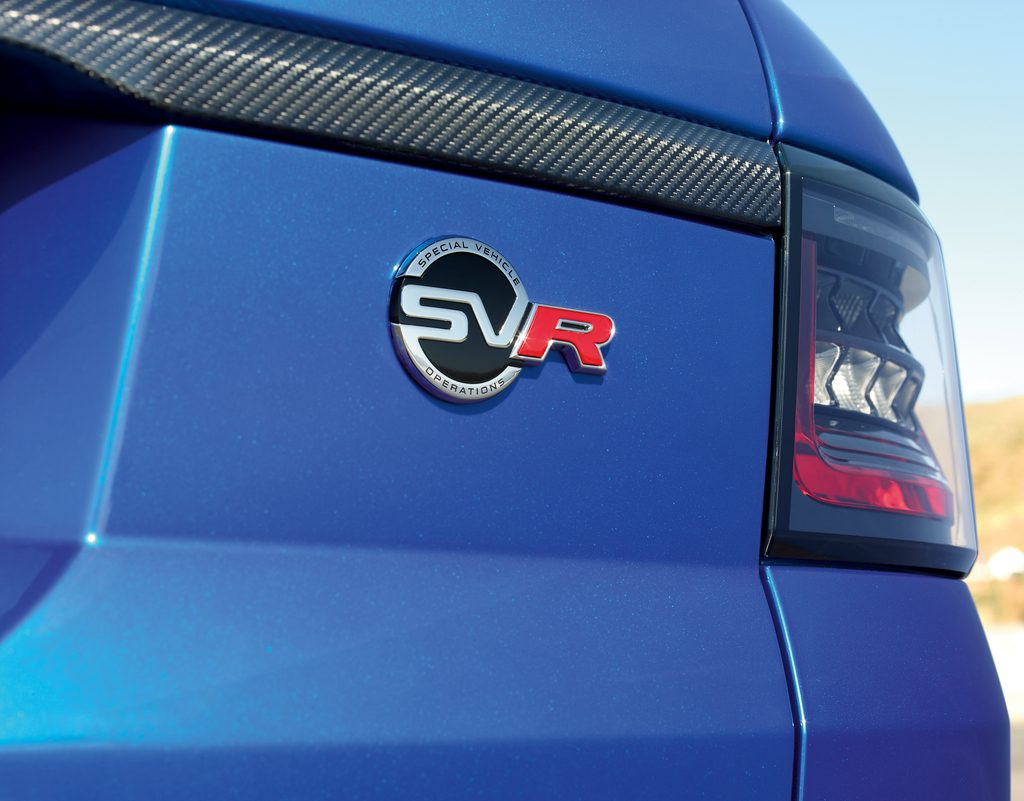 Land Rover Range Rover Sport SVR Badge