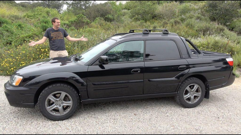the unique small utility truck call the Subaru Baja