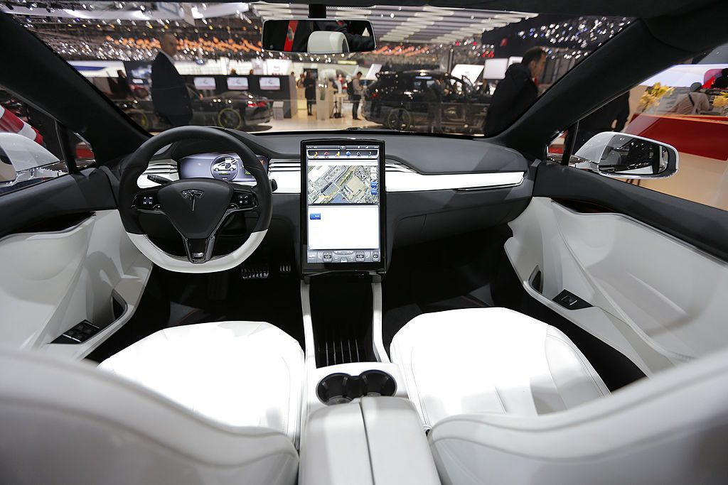 The interior of a Tesla Model X