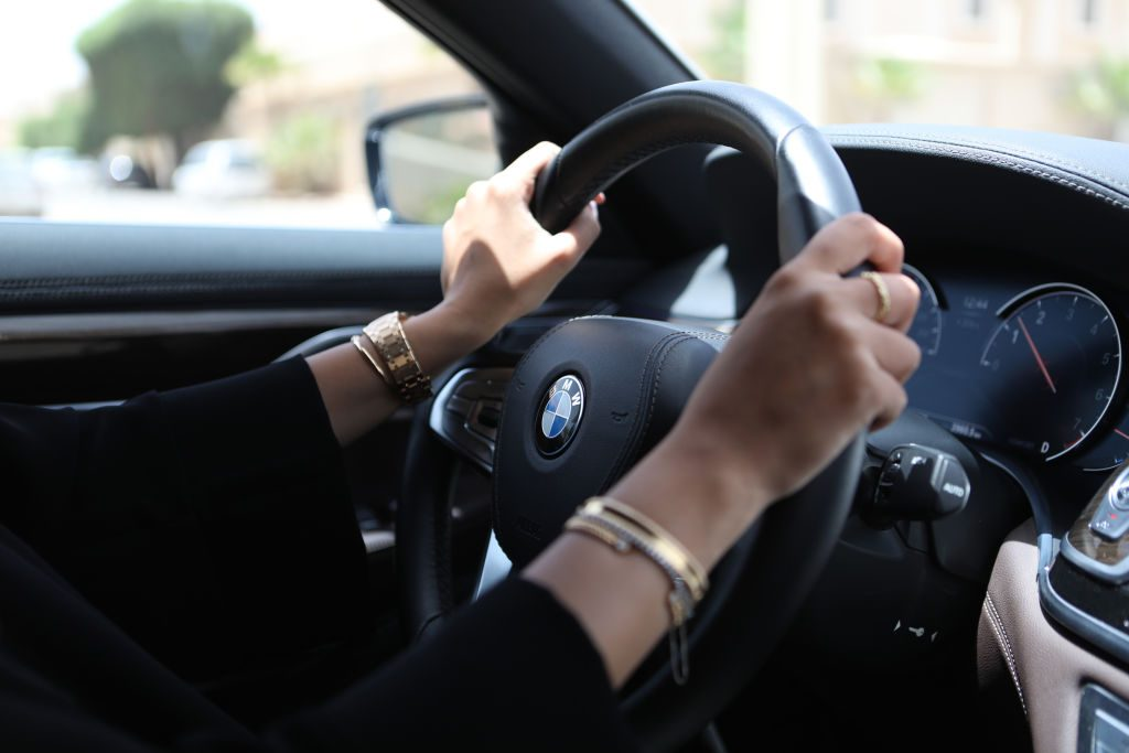 Cruise control on steering wheel