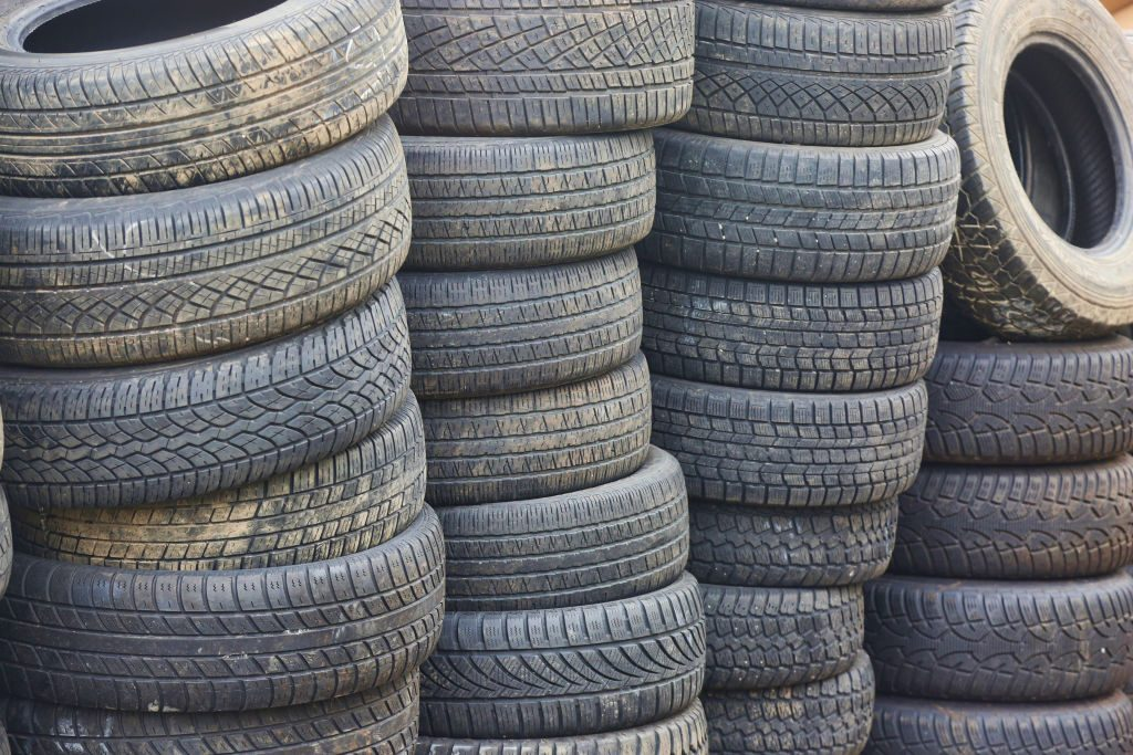 Stacks of car tires