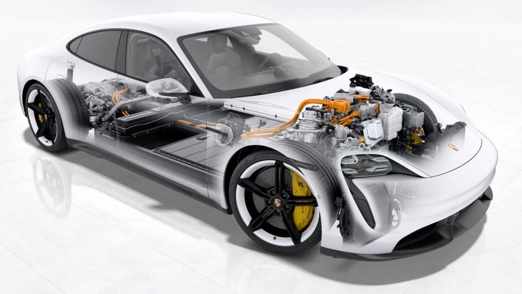 Porsche Taycan Turbo cutaway