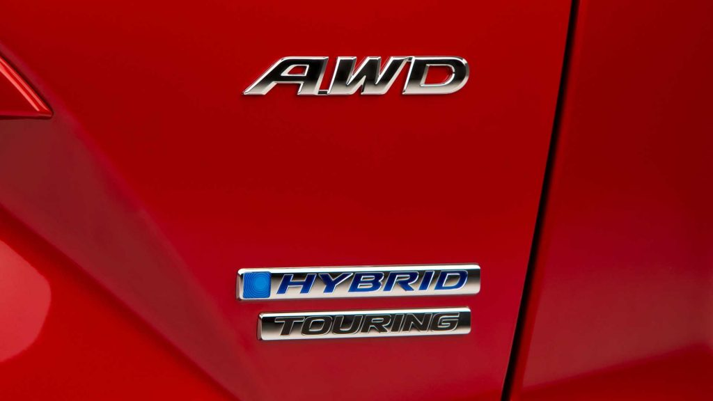 2020 Honda CR-V Hybrid AWD badge