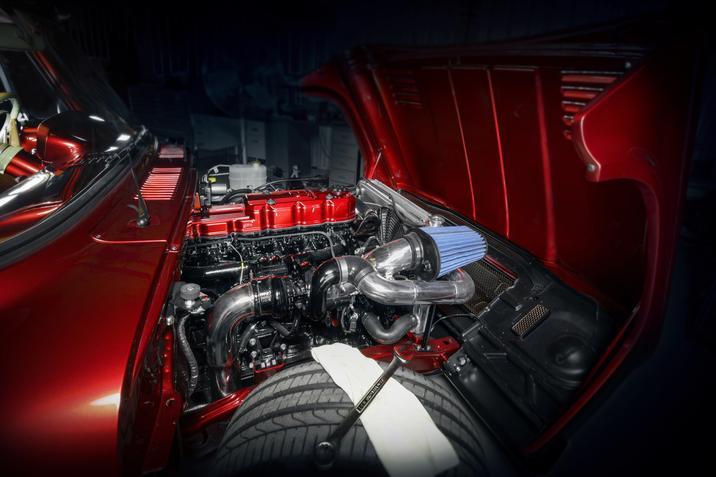 1968 Dodge D200 Lowliner Concept engine bay