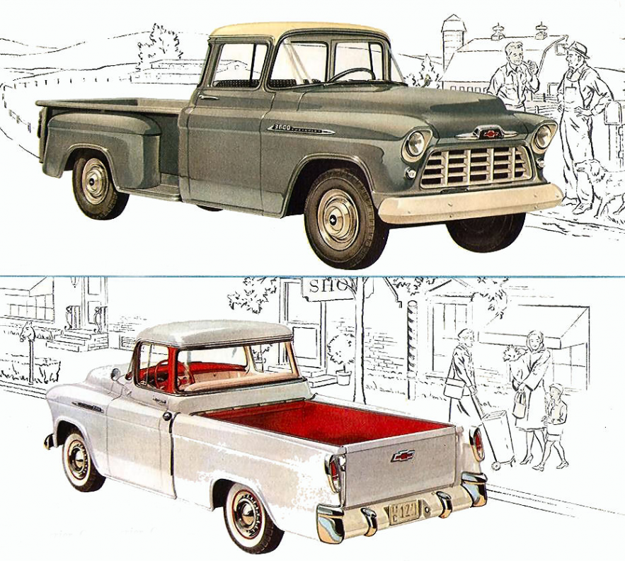 1955 Chevy Cameo and Standard Pickups | GM