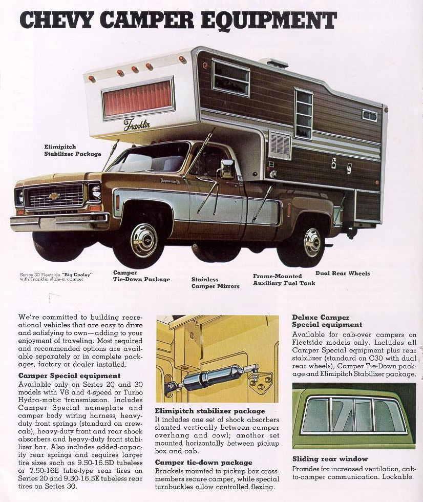 1973 Chevy C30 Dually Advertising-GM