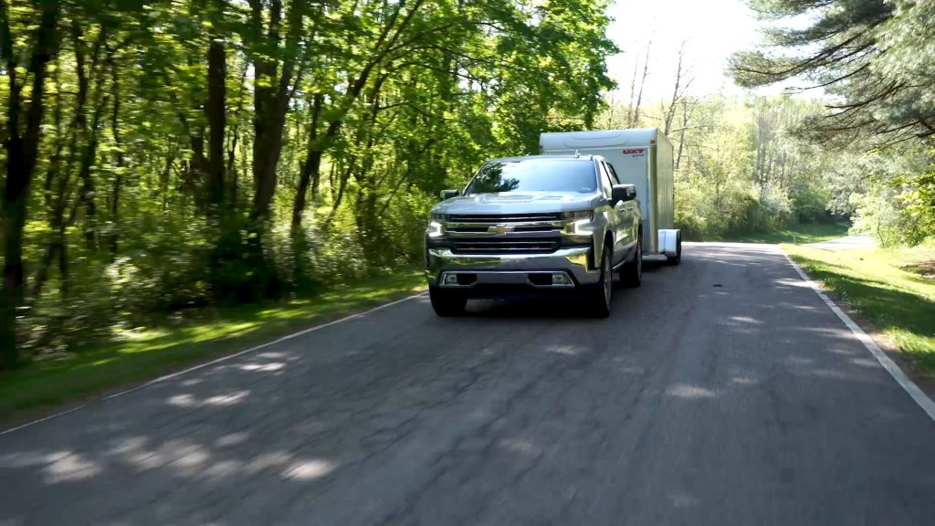 2019 Chevrolet Silverado 1500 is a great truck for towing a cargo trailer RV camper